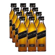 Miniatura Mini Whisky Black Label 50ml 12 Unidades - Johnnie walker