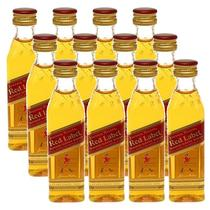Miniatura Mini Whisky Red Label 50ml 12 Unidades - Johnnie walker
