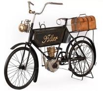 Miniatura Moto Modelo 1903 Adeler Motorcycle Preta para Decoração - Vintage