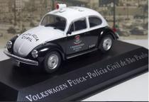 Miniatura Vw Fusca Pol Civil Sp-veículos Serviço-1/43- 10647 - Deagostini