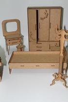 Miniaturas - kit móveis casa completa - Compatíveis com a boneca barbie. - New Art
