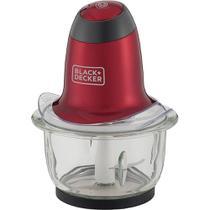 Miniprocessador vermelho 220v tigela de vidro mp200v-b2 black decker -