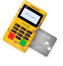 Minizinha Chip 2 Aceita Débito, Crédito e Refeição, Sem Aluguel, conexão 3G ,wi-fi e chip (VIVO) - Pax