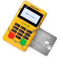 Minizinha Chip 2 Maquina Sem aluguel Aceita Débito,Crédito e Refeição 3G Wifi PagBank - CHIP  VIVO -