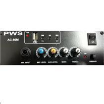 Mixer Amplificado AC-80M 12V para Propaganda Volante - PWS -