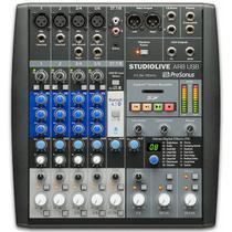 Mixer analógico e interface de gravação presonus studiolive ar8 -