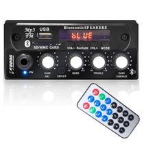 Mixer Automotivo Boog Estéreo Entrada Usb P2 P/ Microfone -