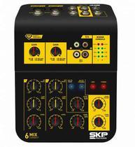 Mixer Mesa De Som Skp Connect 6 4 Canais -