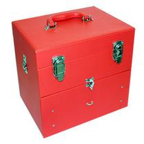 Ml-130r  maleta p/ maquiagem vermelha - Ry Beauty