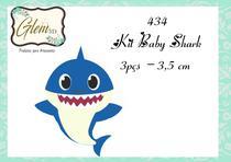 Mni kit baby shark   frente- 3 pçs p - Glem3d