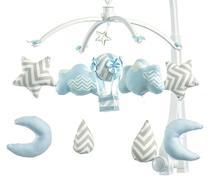 Móbile Berço Bebê Musical E Giratório Nuvens E Balão Azul - Sleepbaby