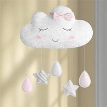 Móbile Berço Bebê Nuvem de Algodão Rosa Menina Grão de Gente -