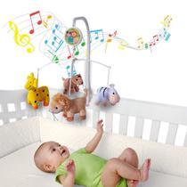 Móbile em Pelúcia Giratório Musical De Bebê Safari - Kitstar