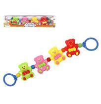 Mobile Infantil Ursinhos Colors Brinca Bebe para Carrinho na Caixa Wellkids - Wellmix