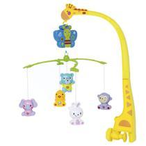 Móbile Musical de Girafa e Animais para Bebês - Buba -