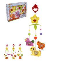 Mobile musical infantil bichinhos brinca bebe colors na caixa wellkids - Wellmix