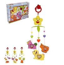 Mobile Musical Infantil Bichinhos Brinca Bebe Colors Na Caixa Wellkids - Wellmix