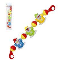 Mobile Musical Infantil Palhacinhos Colors Brinca Bebe Para Carrinho - Wellmix