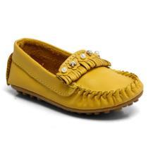 Mocassim Ortopasso Couro Baby Amarelo 46003-001 -