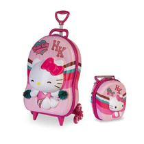 Mochila 3D com Lancheira Hello Kitty Cheerleader - MaxToy