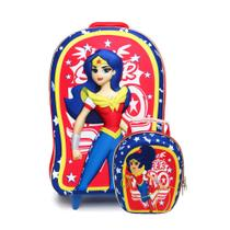 Mochila 3D com Lancheira Super Hero Girls - MaxToy