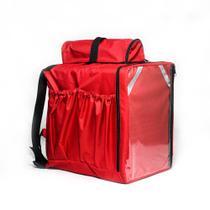 Mochila Bag Bolsas Entregas Oriental 45 Litros  vermelha  Entregador  Sem Isopor aplicativo Bolsão -