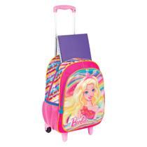7757ecc05 Mochila Barbie 3D Infantil Escolar Com Rodinhas Sestini -