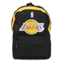 Mochila Basquete Costas NBA Los Angeles Lakers Preta -