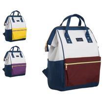 Mochila bolsa do bebe multifuncional 2 em 1 maternidade impermeavel passeio academia vintage luxo - Gimp