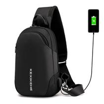 Mochila Bolsa Mala Transversal Anti Furto Cross Body USB Tablet Notebook Alça Única - Thata esportes