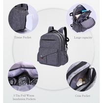 Mochila bolsa maternidade importada multifuncao impermeavel dupla com porta notebook com trocador e - Faça  resolva
