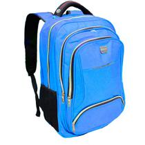 Mochila Bolsa Reforçada Notebook Azul Claro Semi Impermeável Grande - Vanaildo