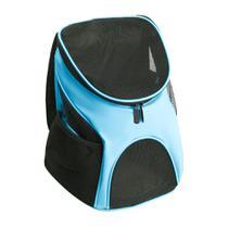 Mochila Bolsa Transporte PET Design Canguru Cães Gatos Azul - Magma