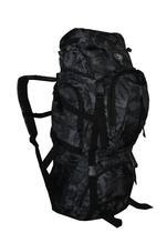 Mochila Camping Masculina Camuflada Viagem Grande Acampar Trilha 55 lts MC9171 Preta - Clio