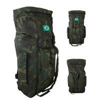 Mochila Camuflada Verde Militar Viagem Camping 588 Bem Forte - Denlex