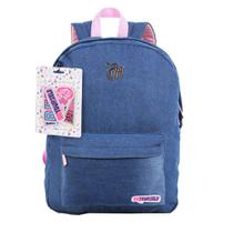 Mochila Capricho Jeans Com Patches - Be Yourself 11360 - Dmw