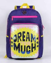 Mochila Capricho Lantejoula Dream Too Much