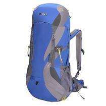 Mochila Cargueira Viagem Camping Nautika Cymba 64lt Azul Com Capa De Chuva -
