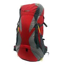 Mochila Cargueira Viagem Camping Nautika Cymba 64lt Vermelha Com Capa De Chuva -