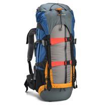 Mochila Cargueira Viagem Camping Nautika Gyzmo 50lt Azul E Cinza Com Capa De Chuva -