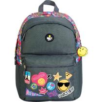 Mochila Casual Com Porta Notebook Escolar Universitaria Smiley GoSuper Love Travel