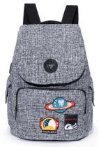 Mochila Cavalera Tweed Moda Feminina Reforçada Moderna -