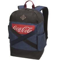 Mochila Coca Cola Denim Pro Jeans Azul -