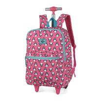 Mochila com Rodas Pinguim Rosa - Up4you