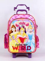 Mochila com Rodinhas G Disney Princesas Explore Your World