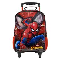 "Mochila com Rodinhas Infantil Xeryus Spider Man 14"" Masculina -"