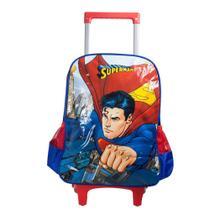 Mochila com Rodinhas Superman Vermelha - Luxcel