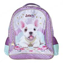 Mochila Costas Infantil Jolie Pets Puppy Média Roxa - Pacific