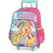 Mochila de Carrinho Barbie GD 2 Bolsos Turquesa - Luxcel