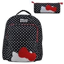 Mochila de Costas Infantil Hello Kitty com Estojo
